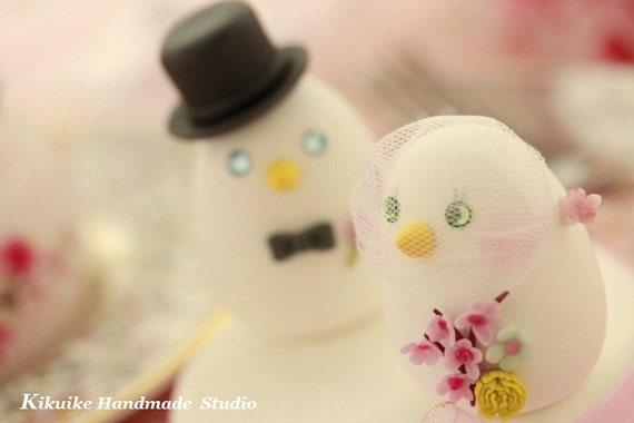 love birds Wedding Cake Topper (K314)