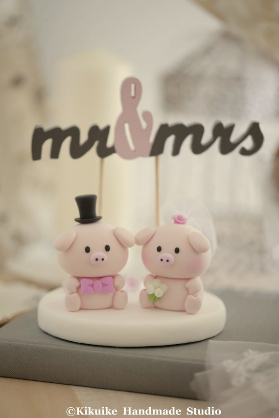 Bride And Groom Cake Topper From Books