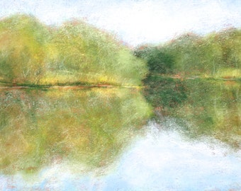 Original Landscape Pastel Painting by Paige Smith-Wyatt wall art