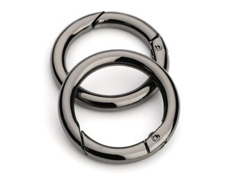"2pcs - 1 1/4"" Gate-Ring - Black Nickel - Free Shipping (GATE RING GRG-122)"