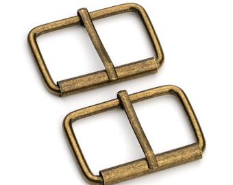 "30pcs - 1 1/2"" Roller Pin Belt Buckles - Antique Brass - Free Shipping (ROLLER BUCKLE RBK-122)"
