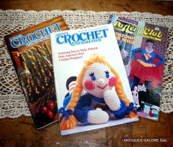 Items similar to Annies Pattern Club, Crochet Newsletter, Set of 3 ...