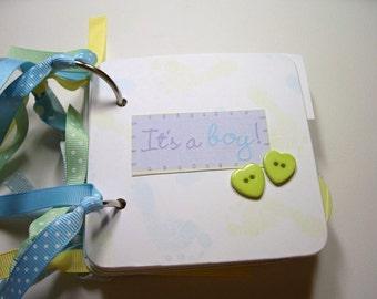 Baby Boy Mini Album, Baby Boy Scrapbook, Baby Boy Brag Book, Premade Album, Baby Boy memory Book, Baby Boy Photo Album, Chipboard Album
