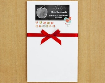 Personalized Teacher Stationery with chalkboard - A+ Class Notepad