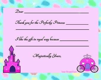 Fill-In Thank You notes - Pretty Princess