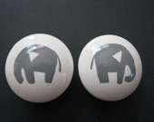 drawer knob Grey Elephant drawer knob