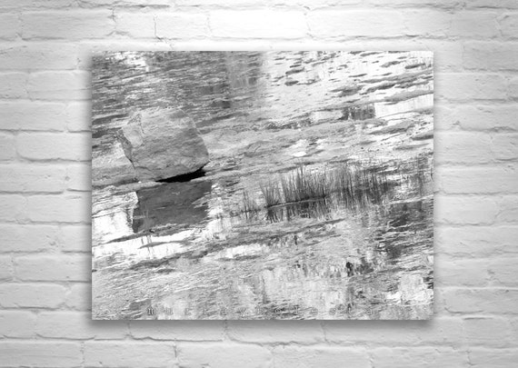 Water Art, Nature Photography, Water Reflections, Wilderness Photography, Water Ripples, Black and White Wall Art
