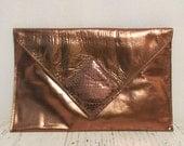 Vintage Bronze Clutch by DAVID MEHLER for DAME