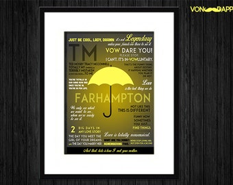 HIMYM inspired Typography TM Print (framed & matted)