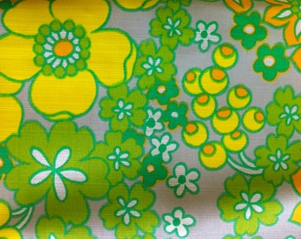 "45"" wide 2 yards 25"" Orange and Yellow Mod Floral"