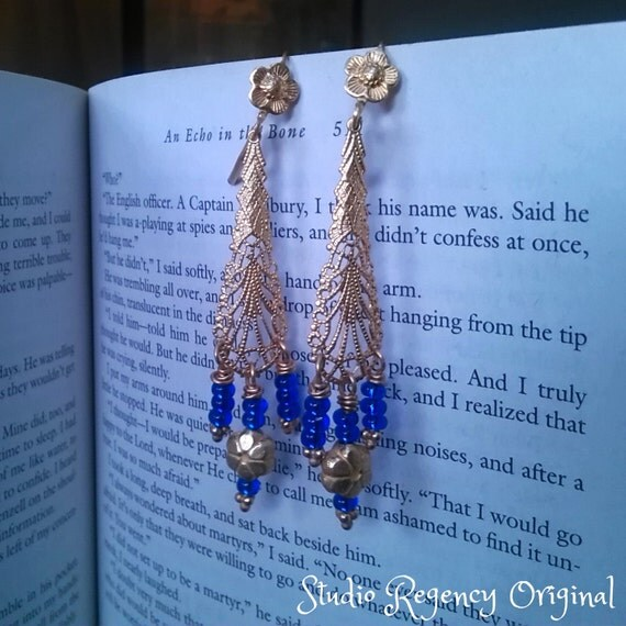 Outlander Earrings -  Diana Gabaldon Inspired - Outlander Jewelry - Outlander Theme Earrings