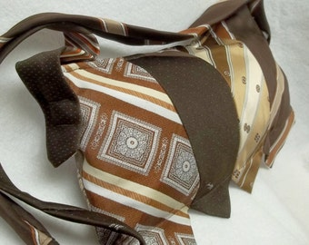 Upcycled brown Silk tie purse,eco friendly silk tie purse,vintage brown silk tie purses,recycled ties,silk ties,brown ties,brown tie purse