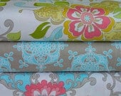 Riley Blake Designs - Priscilla Collection by Lila Tueller Designs - Main in White Wallpaper and Damask in Blue