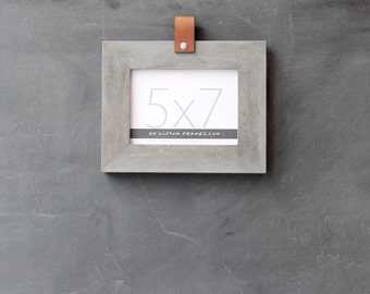 5x7 leather collection picture frame (driftwood gray) . 5x7 handmade picture frame