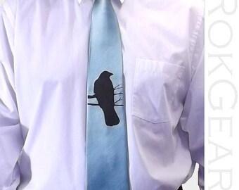 RokGear Mens necktie - set of 3 ties - 59 necktie colors to select from, Crow tie Raven tie