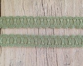 Stretch Lace-DUSTY GREEN-1/2 inch -5 yards for 1.99