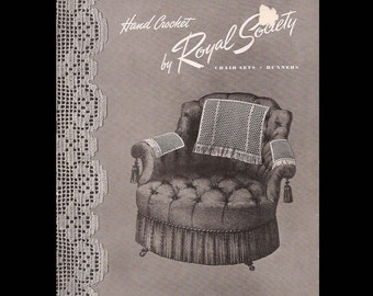 Hand Crochet by Royal Society Book No. 5 - Vintage Booklet c. 1945