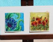 Vintage Water Colors By Jan Andrews Flowers Psychadelic Groovy Hallmark Paisley Vintage Painting Vintage Original Art