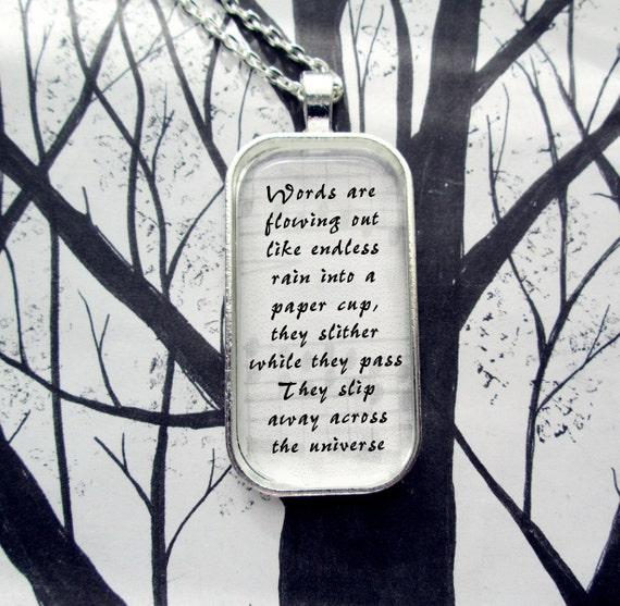 Across the Universe by The Beatles  Song Lyric Pendant