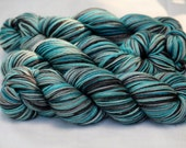 "Hand Dyed Wonder Yarn - ""Enter Sandman"" Color"