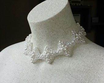 Diamond motif Wedding Collar