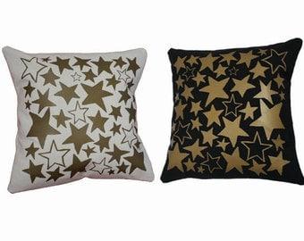 black and gold pillows etsy. Black Bedroom Furniture Sets. Home Design Ideas