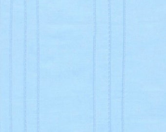 One (1) Yard -Rick Rack and Ribbons Pin Tuck Fabric on Blue Robert Kaufman ZUD-13599-4 Blue