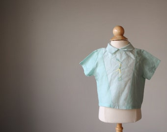 1950s Drum Major Shirt, size 6 months