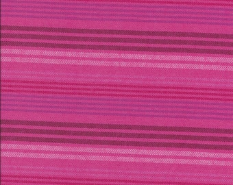 """REMNANTS-Bright Multi Stripe Pink Flannel Cotton Fabric. 57"""" wide. 3 pieces at 34"""", 34""""& 17""""."""