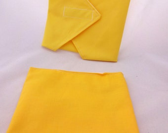 Yellow Lunch Duo - Sandwich Wrap and Snack Bag
