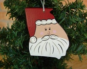 Georgia Santa Ornament