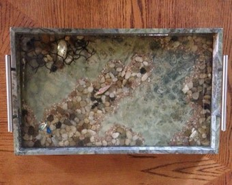 River Scene 3D Serving Tray