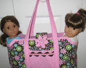 American Girl Doll or Bitty Baby Tote Bag Carryall