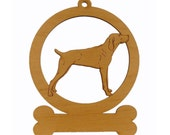 Mountain Cur Standing Ornament 083577 Personalized With Your Dog's Name