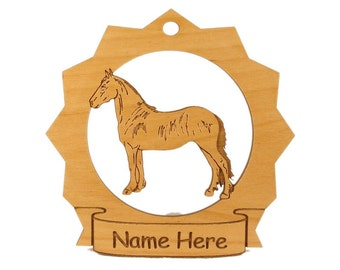 Freisian Horse Wood  Ornament 088119 Personalized With Your Horse's Name
