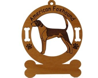 1244 American Foxhound Standing Personalized Dog Ornament