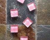 Pretty in Pink - square glass magnet set