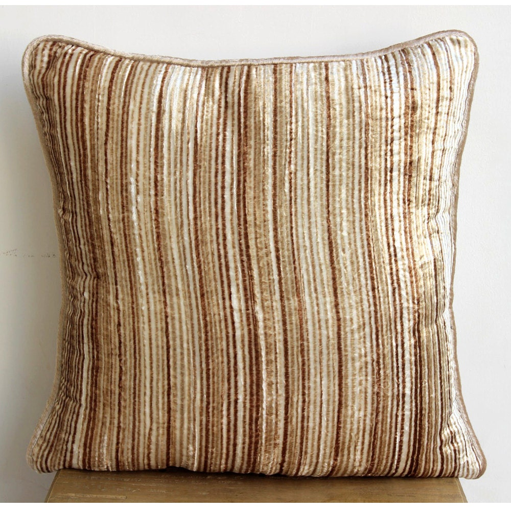 Designer Beige Throw Pillows Cover For Couch