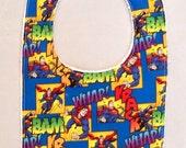 Baby Superman   bib  13x 7.5 ready to ship