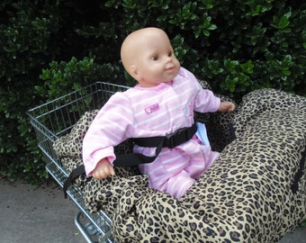 Cheetah print   baby shopping cart cover/ high chair cover
