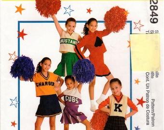 McCall's UNCUT Costume Pattern 2849 Children's Cheerleader Costumes 5-6