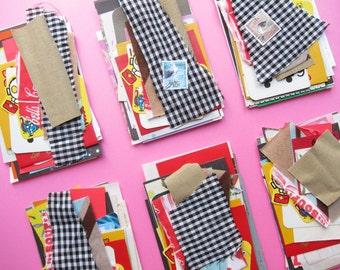 Cartoons - modern collage kit (1 mini set of paper stock)
