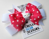 Hello Kitty Hair Bow - Hot Pink