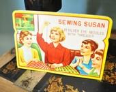 Vintage Sewing Susan Rust Proof Needle Book Plus Original Needles