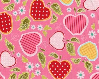 Riley Blake • Apple of my Eye • Pink Apple Basket • Cotton Fabric 001591