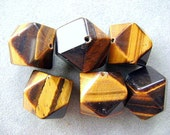 BEADS, TIGEREYE, LARGE, Golden, Brown, Ethnic, Focal, Brilliant, Yellow, Barrel, Faceted