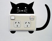 Cat Wall Sticker for Power points and light switches
