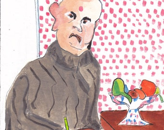 Self portrait  in the kitchen