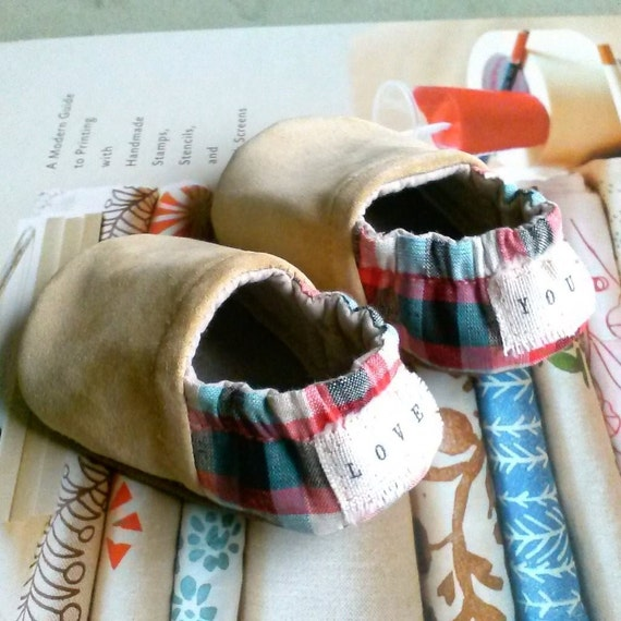 Baby Shoes Gender Neutral with Love You and I Am Loved