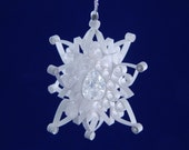 Christmas Ornament April Birthstone 'Celebrate Diamond' elegant quilled snowflake ornament beautifully gift boxed tree ornament birthday